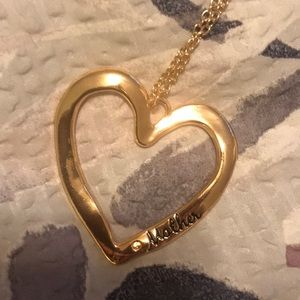Mother long gold necklace